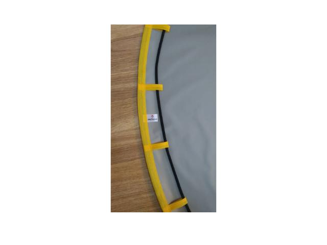 Tapete BLW / Tapete Organizador de Brinquedos Impermeável1,30m - Cinza Acabamento Amarelo