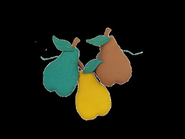 Varalzinho Decorativo Peras - Com verde