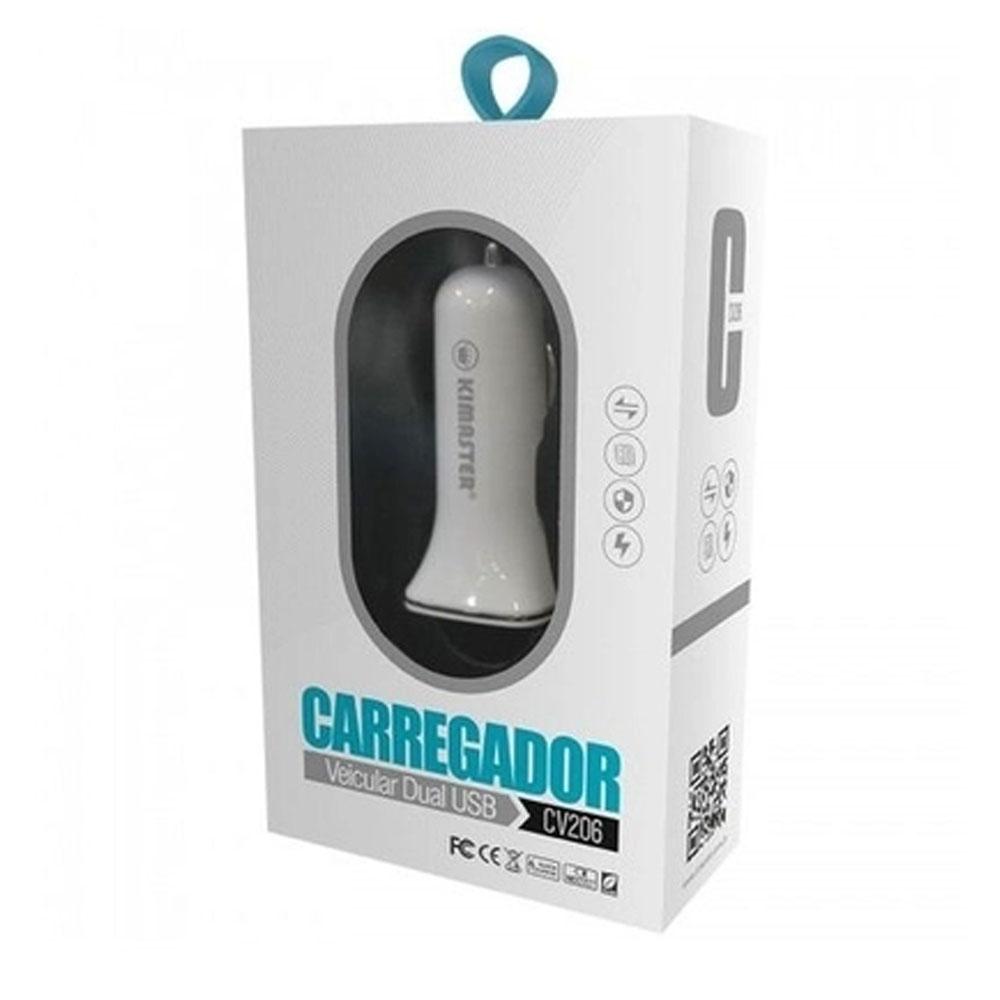 CARREGADOR  VEICULAR CV206 2 USB