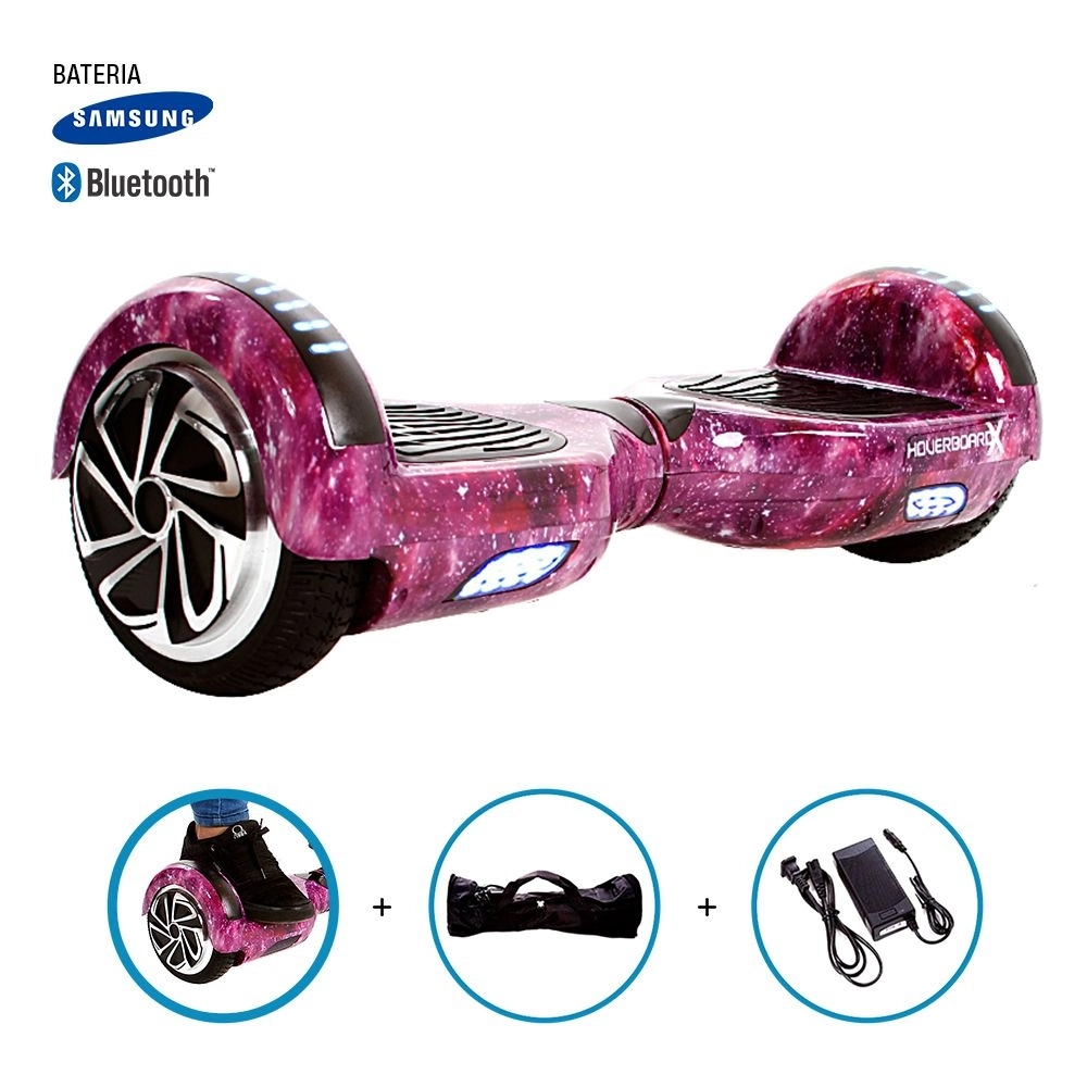 """Hoverboard 6.5"""" Boards Bluetooth Led Lateral E Frontal - Bateria Samsung"""