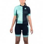 Camisa Ciclismo Woom Feminina - Ironman - Preto/Tiffany