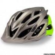 Capacete de Ciclismo Absolute Wild Cinza/Verde Fosco M/G