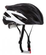 Capacete de Ciclismo Audax SV80 Preto com Branco Tamanho M