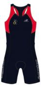 Macaquinho de Triathlon Hammerhead Feminino Long Distance MTZS-2  Marinho/Vermelho