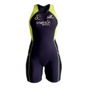 Macaquinho de Triathlon Hammerhead Feminino Short Distance WTZS-3   217 Marinho/Amarelo/Verde