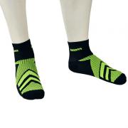Meia Running Woom 140 Preto / Verde Masc 2020