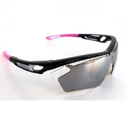 Óculos de Ciclismo e Corrida Dvorak One Rosa/Preto com 3 lentes fumê, espelhada e transparente