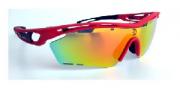 Óculos de Ciclismo e Corrida Dvorak One Vermelho/Fosco  com 3 lentes fumê, espelhada e transparente