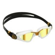 Óculos de natação aqua sphere kayenne branco/dourado - lente titanium dourada