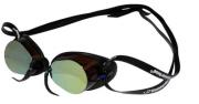 óculos de Natação Swedish Pro Mirror Espelhado Marrom/Preto