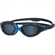 Oculos de Natacao Zoggs Predator Flex Preto/Azul - Lente Fumê
