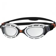 Oculos de Natacao Zoggs Predator Flex Preto/Branco - Lente Transparente