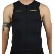 Top Woom Triathlon 140 Carbon Sem Manga Masculino 2019