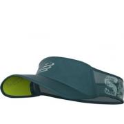 Viseira Compressport Ultralight Swim Bike Run - Verde Escuro/Cinza