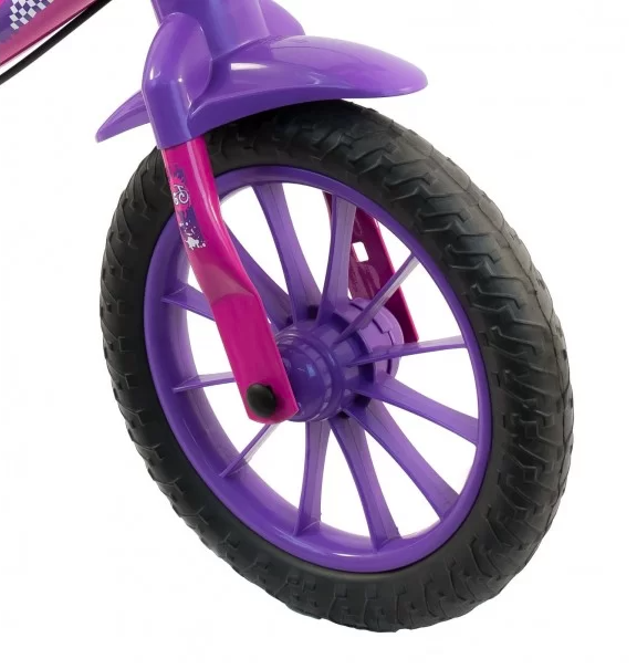 Bicicleta Infantil Balance de Equilíbrio Nathor Rosa/Roxo