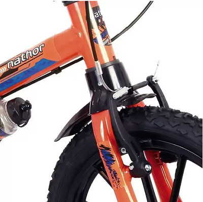 Bicicleta Infantil Nathor Aro 16 Extreme Preto/Laranja