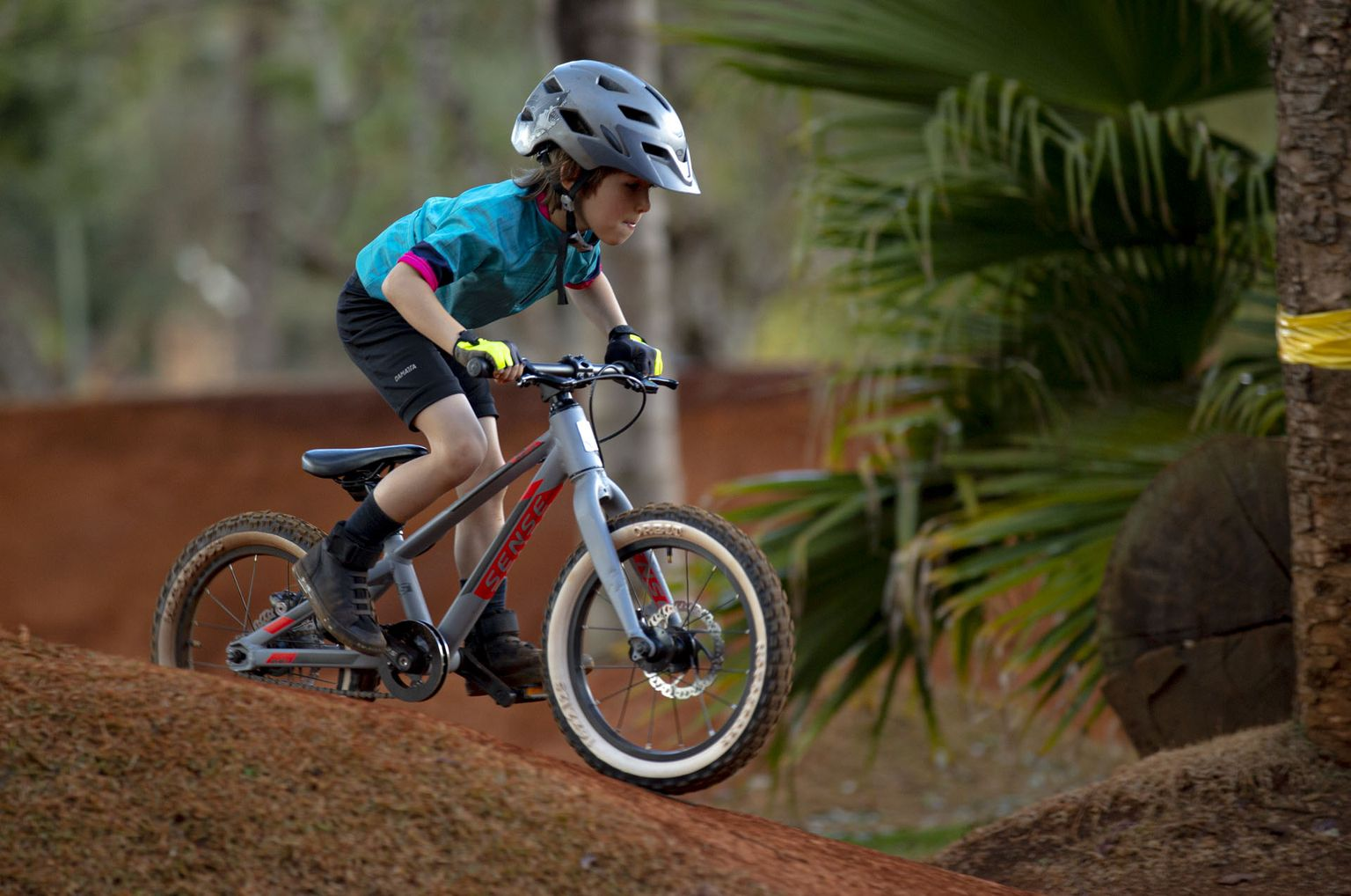 Bike MTB Infantil Sense Impact Cinza/Vermelha Aro 16 (2020)