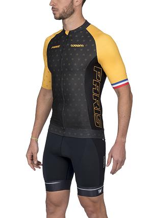 Camisa Ciclismo Woom Supreme Paris (Amarelo) Masc 2020
