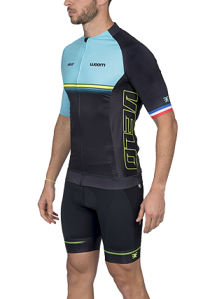 Camisa Ciclismo Woom Supreme Velo (Azul) Masc 2020