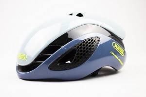 Capacete de Ciclismo Abus Gamechanger Cinza/Azul - M