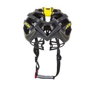 Capacete de Ciclismo Audax  BM08 Cinza e Amarelo