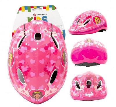 Capacete De Ciclismo Infantil Absolute Shake Princesa- P