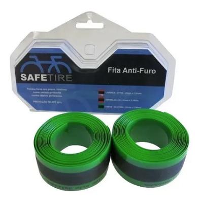 "Fita Anti Furo Safe Tire para Aro 29"" Verde - PAR"