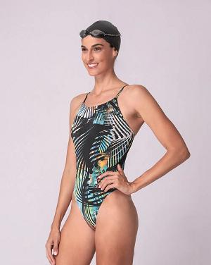 Maiô de Natação Fabiola Molina Sol Com Compressão Sport Color -M