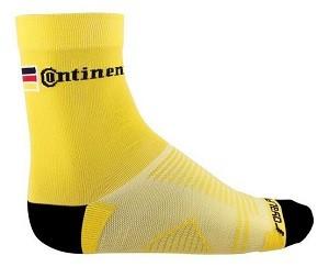 Meia de Ciclismo Continental Amarela