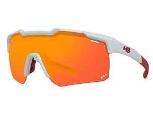 Óculos de Ciclismo e Corrida HB Shield Compact R Pearled White Multi Red
