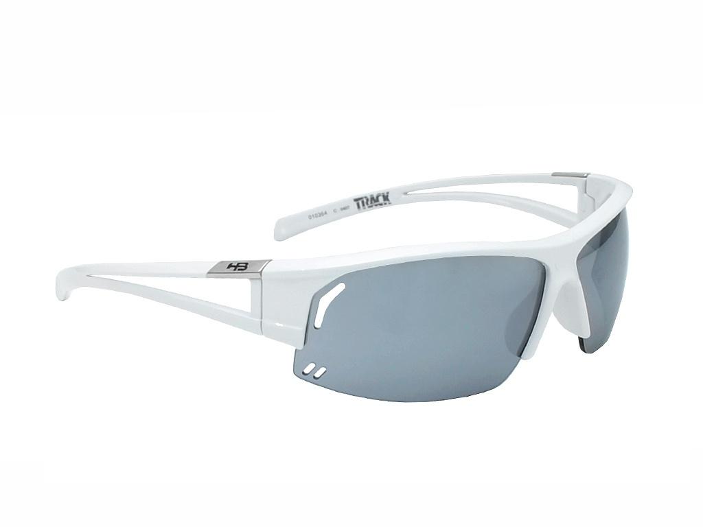 Óculos de Ciclismo e Corrida HB Track Pearled White Silver