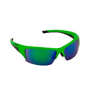 Óculos de Ciclismo e Corrida Spiuk Binomio Lente Verde Espelhada - Armação Verde Fluor/Preto