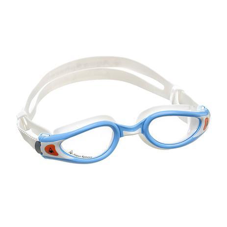 Óculos de natação aqua sphere kaiman exo small branco/turquesa - lente transparente