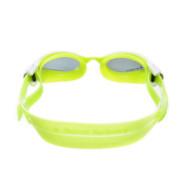 Óculos de natação aqua sphere kaiman exo small lima/branco - lente fumê