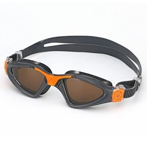 Óculos de Natação Aqua Sphere Kayenne Grafite/Laranja - Lente Polarizada Marrom