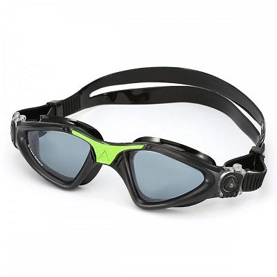 Óculos de natação aqua sphere kayenne preto/verde - lente fumê