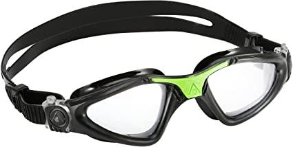 Óculos de Natação Aqua Sphere Kayenne Preto/ Verde  - Lente Transparente