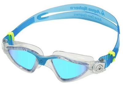 Óculos de Natação Aqua Sphere Kayenne Tranparente/Turquesa - Lente Titanium Azul