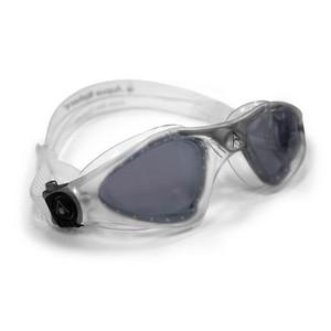 Óculos de natação aqua sphere kayenne transparente/prata - lente fumê