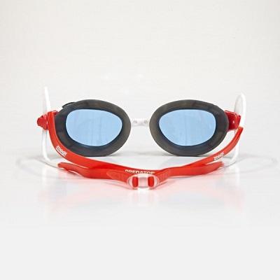 Oculos de Natacao Zoggs Predator Branco/Cinza/Vermelho - Lente Azul