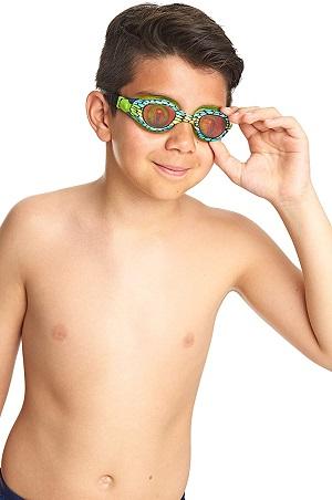 Óculos de Natação Zoggs Sea Demon Junior Verde e Azul