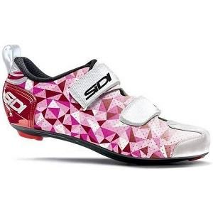 Sapatilha Sidi Triathlon T5 Feminina Rosa/Branca/Vermelha - 37BRA