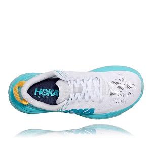 Tênis Hoka Carbon X Feminino Branco/Azul Claro