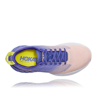 Tênis Hoka Mach 3  Feminino Rosa e Azul