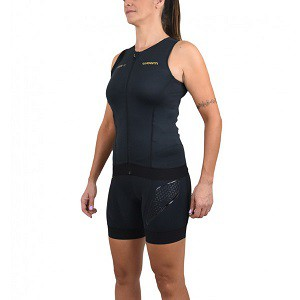 Top Woom Triathlon 140 Carbon Sem Manga Feminino 2019