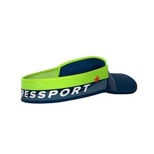 Viseira Compressport UltraLight - Azul/Limao