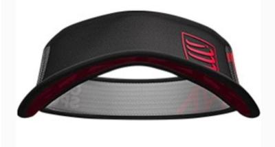 Viseira Compressport Ultralight Spiderweb - Preta/Vermelha
