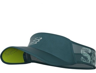 Viseira Compressport Ultralight Swim Bike Run - Verde Escuro/Cinza