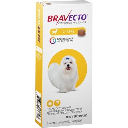 BRAVECTO 112,5MG 2 À 4,5KG