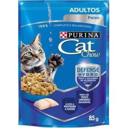 CAT CHOW WET ADULTOS PEIXE AO MOLHO 85G